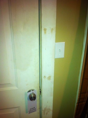 Emerald Isle Motel : Main outside door hasn't been washed in ages.....