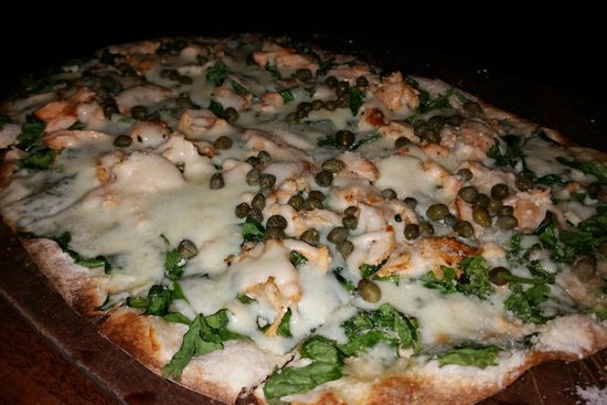 Salmon Flatbread Pizza at majestic Grille in Downtown Memphis