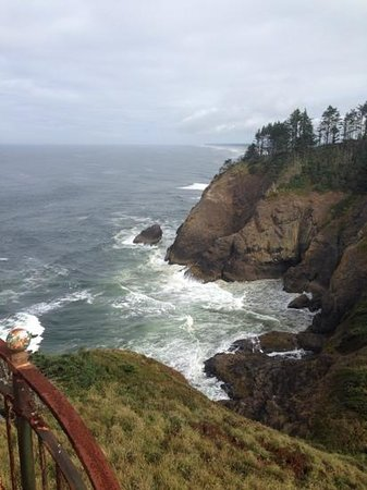 Cape Disappointment State Park: vuew from top of North Head Lighthouse.