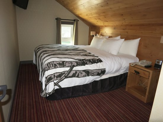 Banff Rocky Mountain Resort: Wolf condo,Cozy room with king bed