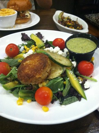 Clam Lake Beer Company: Avocado salad with a crab cake added!