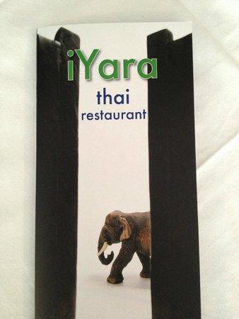 iYara Thai Restaurant: iYara menu
