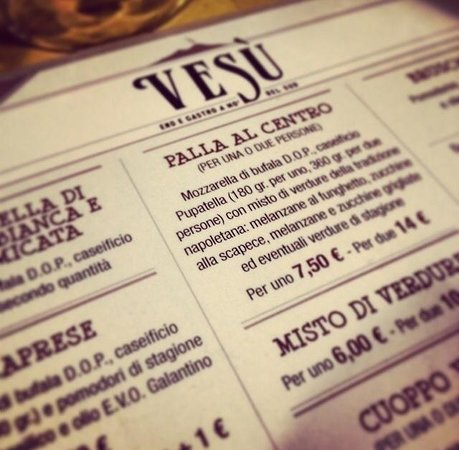 The List Picture Of Vesu Eno Gastro A Mo 39 Del