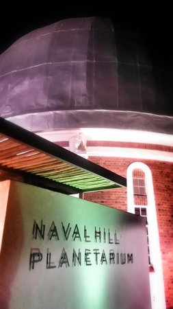 Naval Hill: Planetarium at night