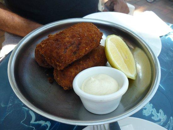 The Rising Sun Bar & Bistro: Fish Croquettes & Aoli starter