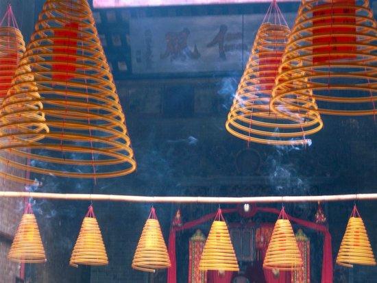 Incense coils in Pek Tai Temple