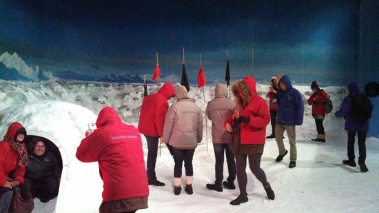 International Antarctic Centre: Inside the Freezing Wind room. Quick temperature change.