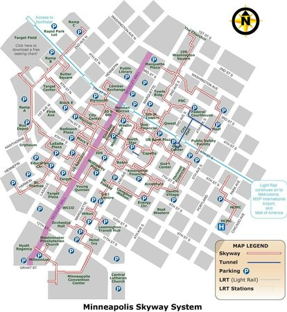 Minneapolis Skyway System MN Top Tips Before You Go With - Parking map us bank stadium
