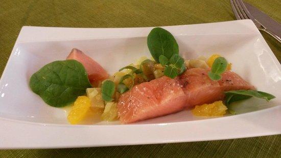 Nature Gourmande : Carpaccio de saumon à l'artichaut