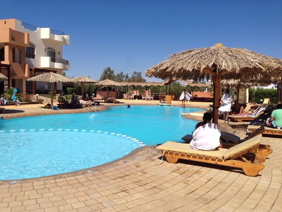 Sheikh Ali Dahab Resort: Another beautiful day pool side.
