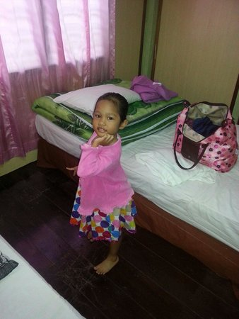 Ombak Inn Resort: Aleesya posing in our room...room no 7