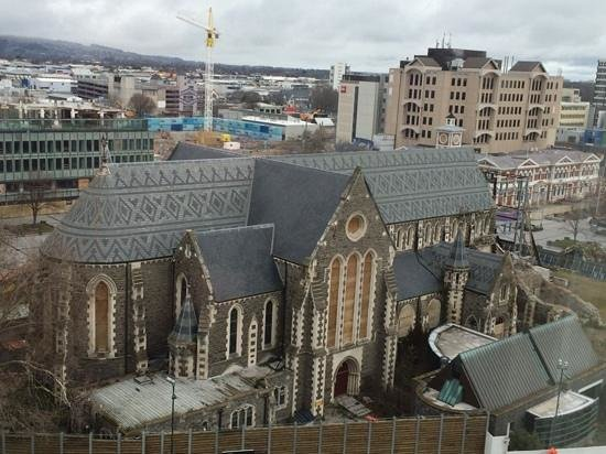 Novotel Christchurch Cathedral Square Hotel: view from my sons room