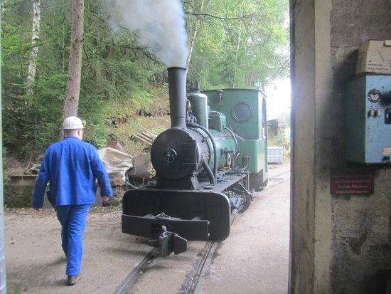 Minett Park Fond-de-Gras: little old steam engine