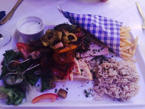 The Meze House: Various souvlakis as part of the meat meze for 2 deal- well worth it!