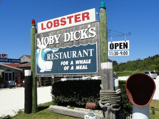 Moby Dick's: Sign welcomes you to eat here