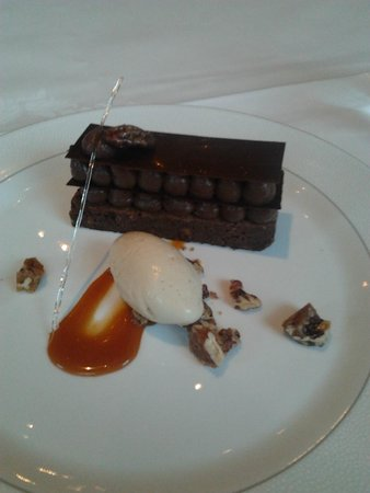 Roux at The Landau: bitter chocolate millefeuille