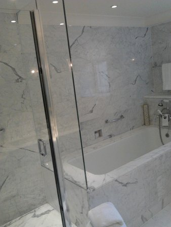 The Dorchester: bath and separate shower
