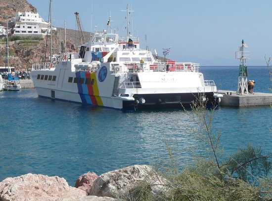 Livadia Beach Apartments: Sea Star ferry from Rhodes to Tilos