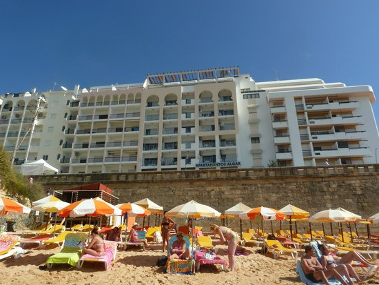 Hotel Apartment Algar: View of hotel from nearby beach.