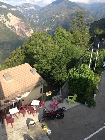 Hostellerie de Rimplas : views from our room