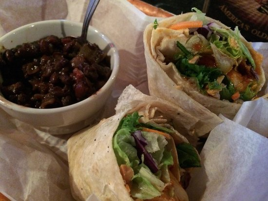 Off the Traxx: Asian Wrap with Rice and Beans