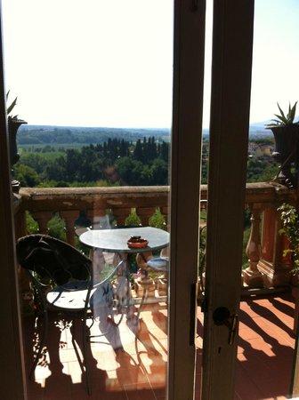 Albergo Quattro Gigli : View from my room to my balcony