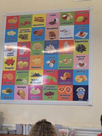 Palazzo del Freddo: Разные вкусы мороженого