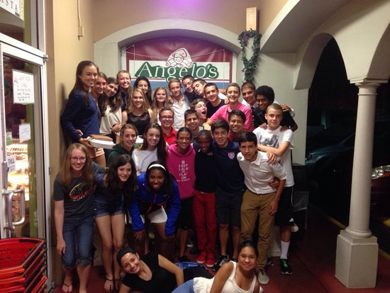 Angelo's Italian Market: Wharton XC 2014 (from Tampa) give Angelo's a thumbs up!