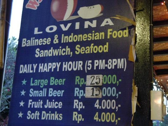 Warung Apple : Good happy hour