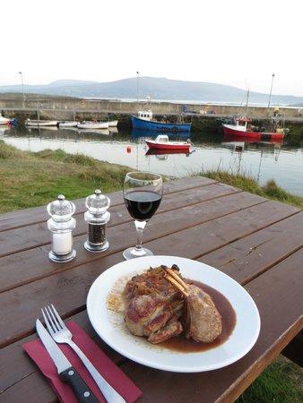 Arundels by the Pier : Carré d'agneau au Arundel's by the Pier, Ahakista