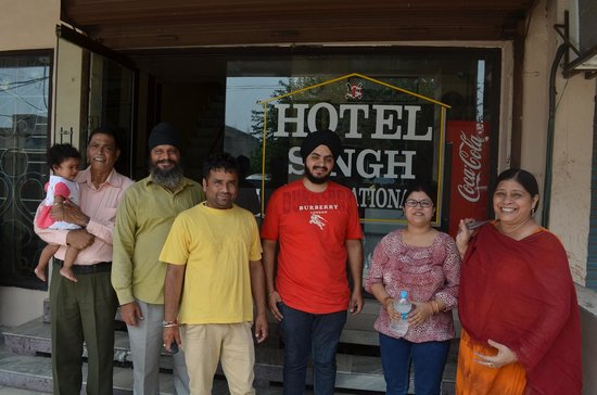 Hotel Singh International: With Karandeep Singh and two of our Cab drivers....