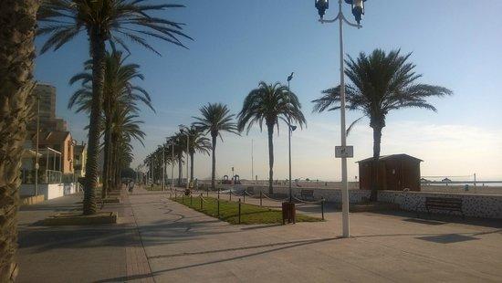 Hotel de la Playa: променад перед отелем