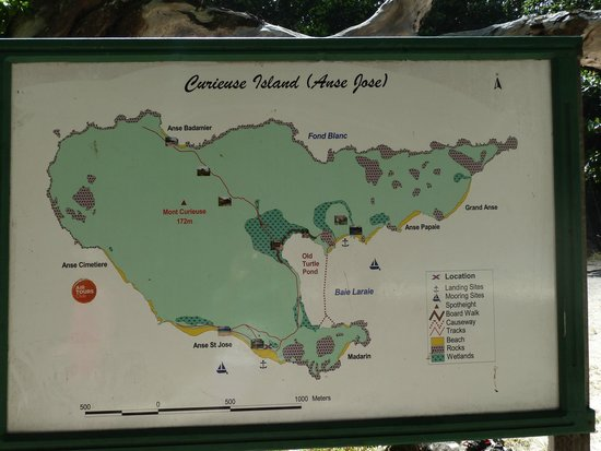 Curieuse Island : Island map