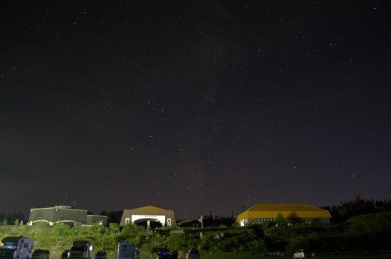 Nagano Prefecture, Japan: 美ヶ原高原美術館と射手座、天の川