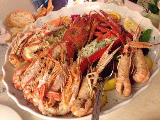 Ristorante La Scala: Lobster, shrimp and langustinos