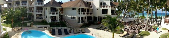 Ambassador in Paradise Resort : Panoramic view from balcony of room 102