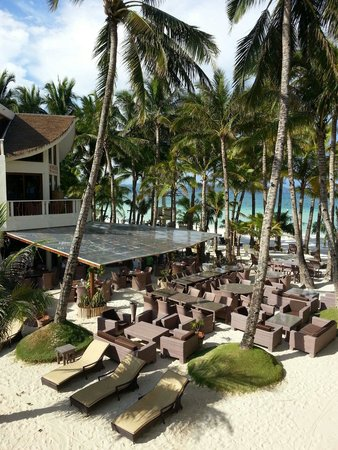 Ambassador in Paradise Resort : Enlarged sea view from our bed