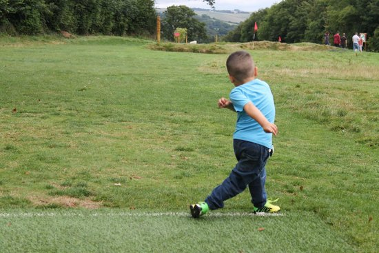 Cornwall Football Golf: The Grandson enjoyed the kick about with his Uncles, Dad and Grandad!