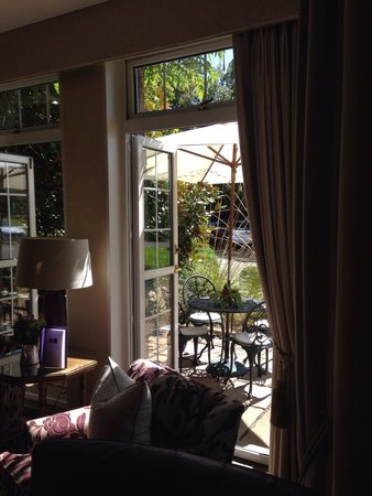 Longueville Manor: One of the many seating areas