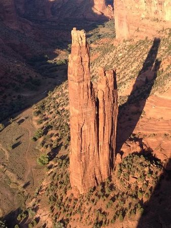As the sun sets, Spider Rock shows her true colors