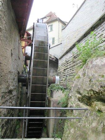 Burg Meersburg: Wasserrad