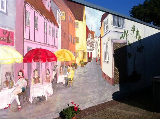 Beautiful Wall Painting Outside Picture Of Ene Villa Parnu