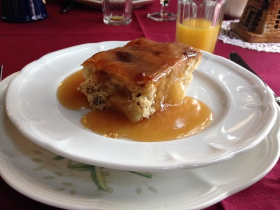 "Baladerry Inn: Apple sausage stuffed ""pancake"" with apple syrup"
