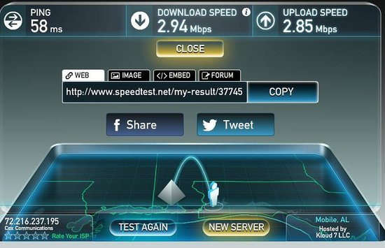 Courtyard Pensacola: very slow internet