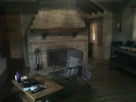 McArthur, OH: Fireplace inside our cabin