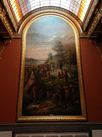 Illinois State Capitol: Painting depicting the Treaty Ceremony granting the lands that would become Illinois.