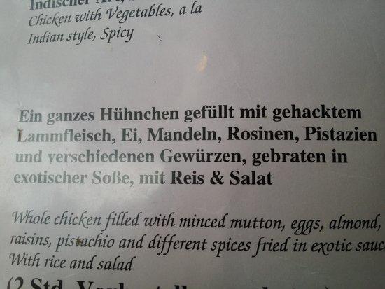 Indisches Restaurant Maharadscha: strange :-)