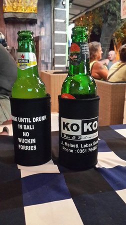 Koko Bar and Restaurant: Cold beers