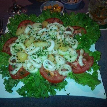 L'Eden : calamari salad