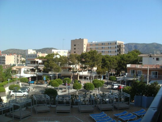 Lively Magaluf Hotel: view from our room
